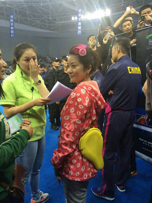 A former Japanese women player Ms. Naomi Yotsumoto was invited to the Pre-event of World Table Tennis Championships in Suzhou China.
